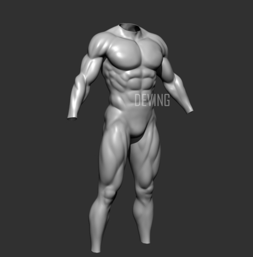 Batman muscle body for Muscle Suit Cosplay 3D Print 152657