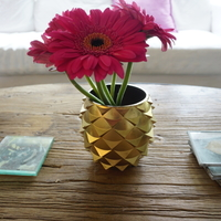 Small Pinecone/Pineapple Inspired Flower Pots 3D Printing 152748