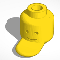 Small Lego Head Hat 3D Printing 152783