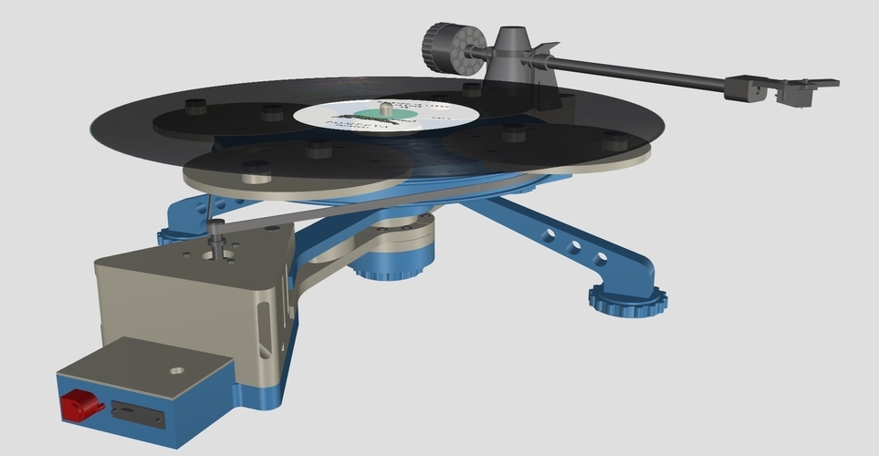 Vinyl Turntable -  It Plays Records :-) 3D Print 152982