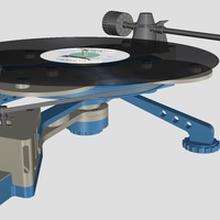 Small Vinyl Turntable -  It Plays Records :-) 3D Printing 152982