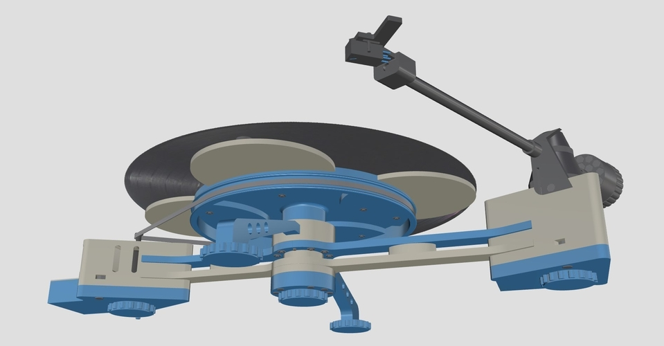 Vinyl Turntable -  It Plays Records :-) 3D Print 152986