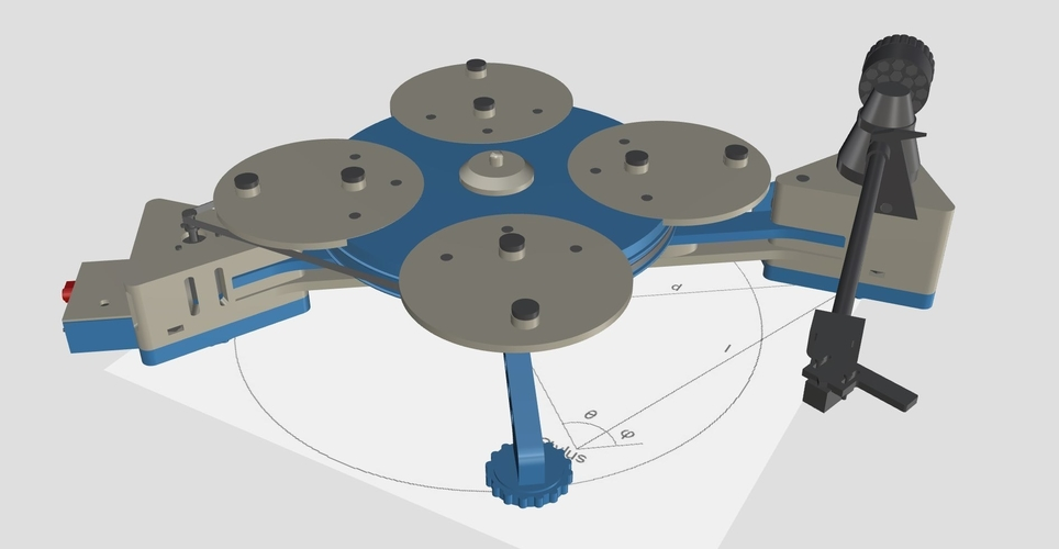 Vinyl Turntable -  It Plays Records :-) 3D Print 152991