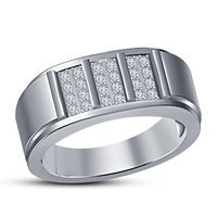 Small Fashion Jewelry 3D CAD Model For Mens Ring 3D Printing 153008