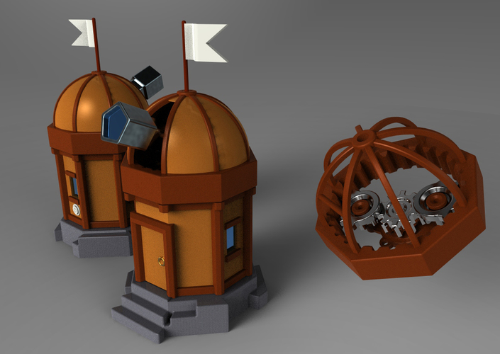 Mechanical Observatory 3D Print 153037