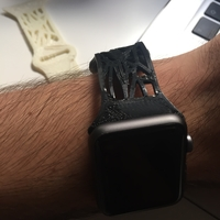 Small Apple watch band 42mm voronoi style 3D Printing 153069