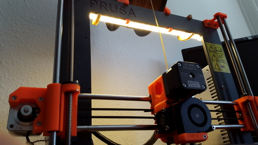 LED Holder (PRUSA I3 MK2) 3D Print 153266
