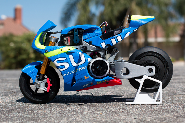 2016 Suzuki GSX-RR 1:8 Racing RC MotoGP Version2 3D Print 153296