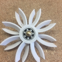 Small Contra-Rotating Turbine Fidget Spinner 3D Printing 153363