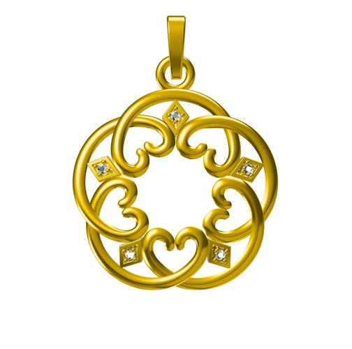 3D CAD Design For heart Pendant In STL Format 3D Print 153472