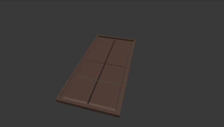 Chocolate Bar Mould 3D Print 153474
