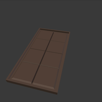 Small Chocolate Bar Mould 3D Printing 153474
