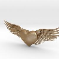 Small Flying Heart 3D Printing 15350