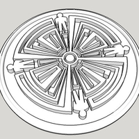 Small Haven Tattoo Design Medallion 3D Printing 153524