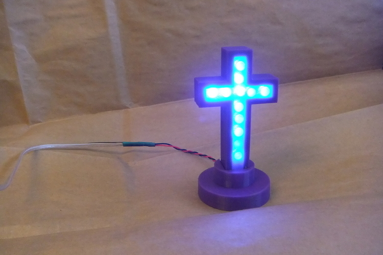 vakits 5mm LED Cross Enclosure 3D Print 153544