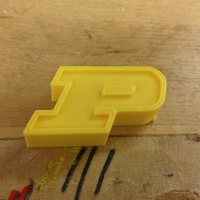 Small Purdue P Logo 3D Printing 153597