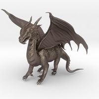 Small Dragon Sculpture 3D Printing 15364
