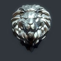 Small Lion Head 3D Printing 15368