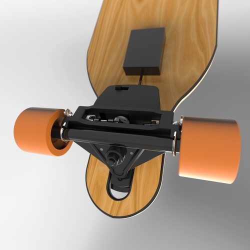 Electric Longboard Brake 3D Print 153716