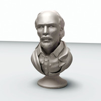 Small William Shakespeare 3D Printing 15372