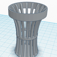 Small Fancy Garbage Bin 3D Printing 153731