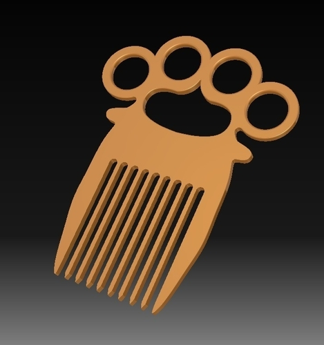 Knuckle-duster/Comb 3D Print 153823