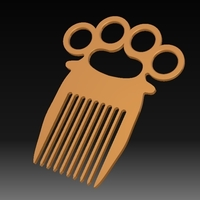 Small Knuckle-duster/Comb 3D Printing 153823