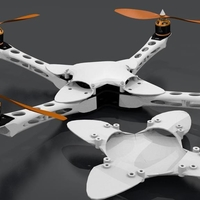 Small IX400 Quadcopter casing 3D Printing 153834