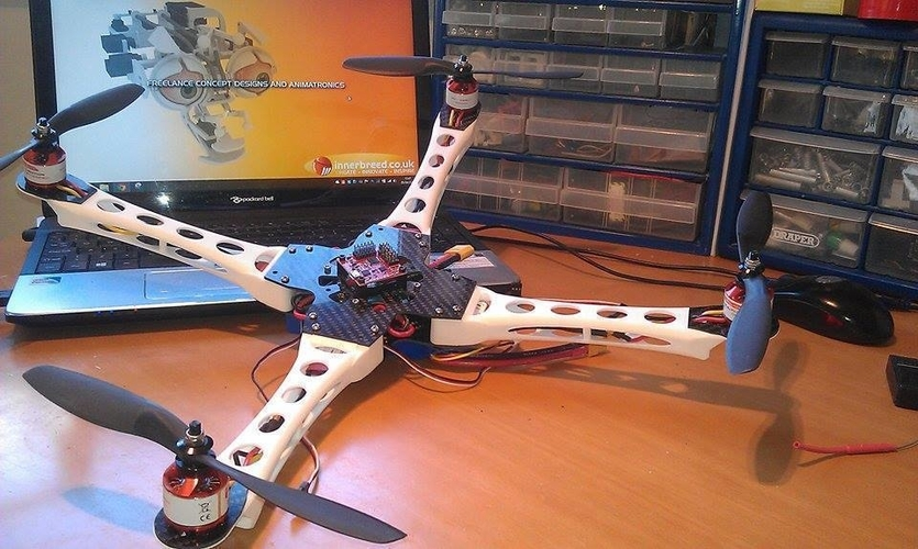 IX400 Quadcopter Body arms only 3D Print 153835