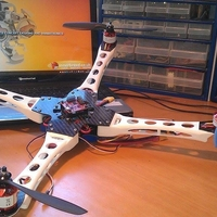 Small IX400 Quadcopter Body arms only 3D Printing 153835