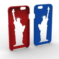 Small iPhone 6 / 6s  Statue of Liberty Phone Case 3D Printing 153873
