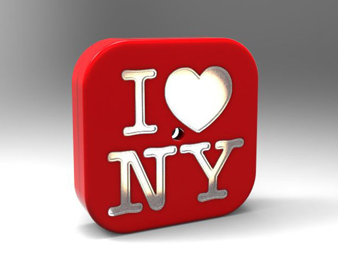 3d printed diy night light i love ny by 3dtaichi pinshape diy night light i love ny 3d print 153876 thecheapjerseys Images