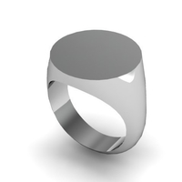 Small Round Signet Ring Size 9 US 3D Printing 153883