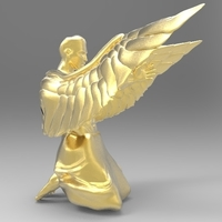 Small Angel Pose 3D Printing 154153