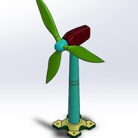 Small Wind turbine 3D Printing 154215