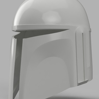 Small Death Watch Mandalorian Helmet Star Wars 3D Printing 154322