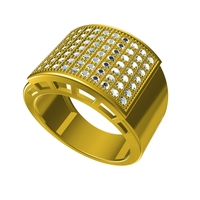 Small 3D CAD Design For Gents Ring In STL Format 3D Printing 154438