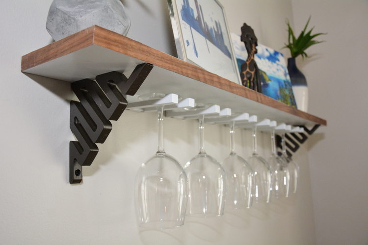 DIY Wine Glass Shelf 3D Print 154457