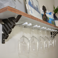 Small DIY Wine Glass Shelf 3D Printing 154457