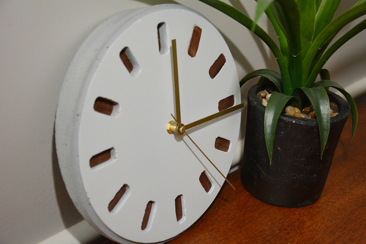 DIY Concrete Clock (3D printed mold) 3D Print 154461