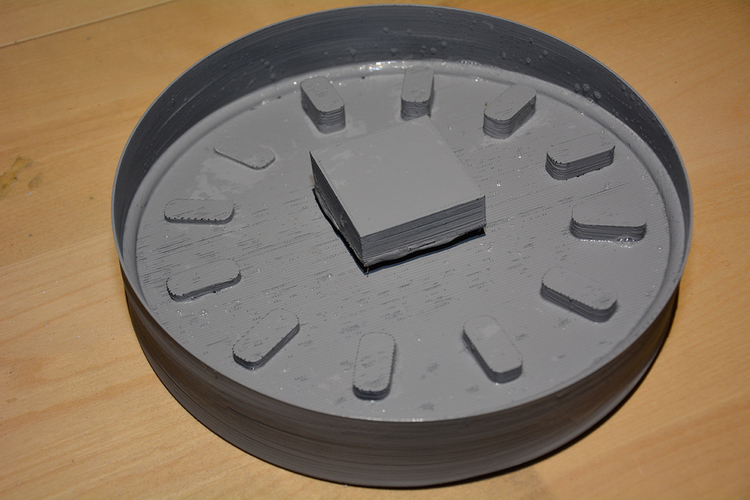 DIY Concrete Clock (3D printed mold) 3D Print 154463