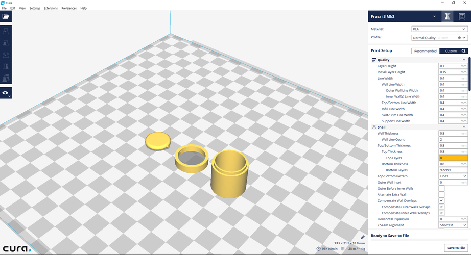 Miniature Trash can  (Bathroom) 3D Print 154504