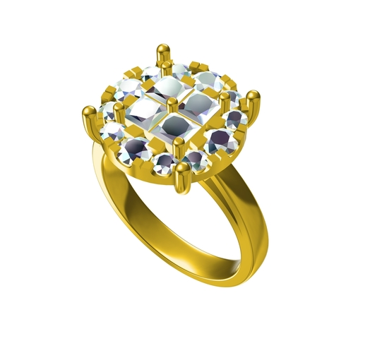 Attractive Womens Ring 3D CAD Model In STL Fromat 3D Print 154616