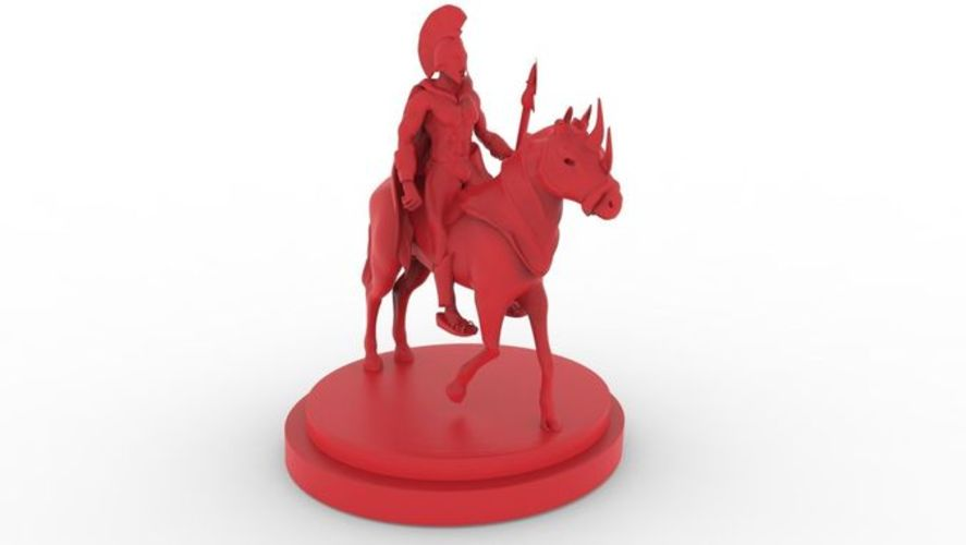 Spartan Warrior 3D Print 15464