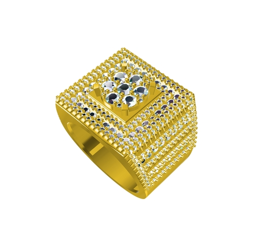 3D CAD Model For Mens Ring In STL Format 3D Print 154809