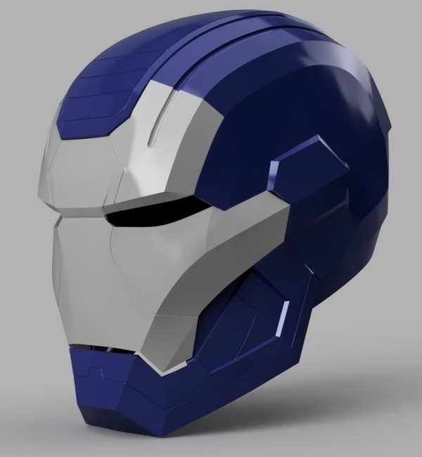 Medium Iron Patriot Helmet (Iron Man) 3D Printing 154829