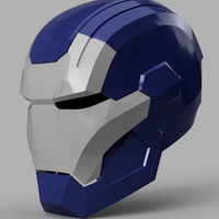 Small Iron Patriot Helmet (Iron Man) 3D Printing 154829