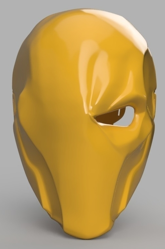 Deathstroke mask Arkham Origins with Back Piece 3D Print 154835