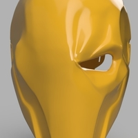 Small Deathstroke mask Arkham Origins with Back Piece 3D Printing 154835