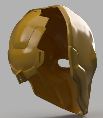 Deathstroke mask Arkham Origins with Back Piece 3D Print 154836